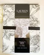 Black And White Floral Toile Tablecloth 70 Round 100 Cotton New