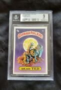 Garbage Pail Kids Series 1 Dead Ted 5a Glossy Bgs 9 Mint Rare