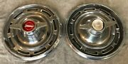 Two 1966 Buick Special 14 Spinner Hubcaps - Hollander 1996