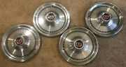 Set Of Four 1974-76 Ford Torino 76-slot Type 15 Hubcaps - D4ez-1130-a - 732