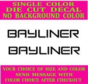 2x-bayliner Boats Die Cut Vinyl Decal Truck Window Boat Sticker Reproduction