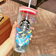 Starbucks 2019 China Water Park Straw Cup Double Wall Glass Tumbler 20oz Rare