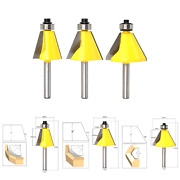 3 Pcs 1/4 Shank Chamfer Router Bits, Chamfer And Bevel Edge Forming Router Bit...