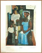 Charles Alston The Family 1 Out Of Print Original 1st Ltd. Ed 1960 Lithograph