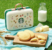 Starbucks Butter Rice Cookie Tin Case Bag Home Kitchen Cafe Bar Picnic Camping