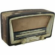 Antique Tube Radio Vintage Finish Distressed Paint Decorative Coin Bank