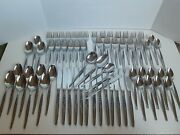 Capco Stainless Steel Flatware Silverware Rare Pattern Roses Floral 67pcs