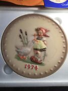 1974 Hummel Collector Plate Original Exc. Condition Birth Year Gift For Cook