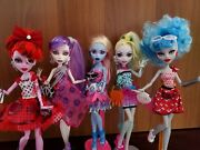 Monster High Doll Dot Dead Gorgeous Ghoulia, Operetta, Spectra, Abbey, Lagoona