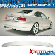 Fits 99-05 Bmw 3 Series E46 Ac Coupe 354 Titanium Silver Painted Roof Spoiler
