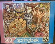 Springbok's 500 Piece Jigsaw Puzzle Cookie Tins Brand New Factory Sealed