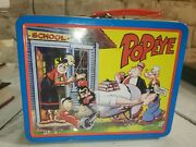 Vintage 1999 Popeye Popeyes Tin Lunchbox Without Thermos