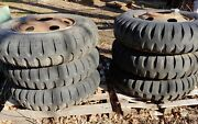 6x Military Truck 9.00-20 Wheels And Tires
