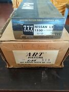 For Nissan L20 Engine A Set Of 6 Art Pistons And Npr Piston Rings Nos Standard