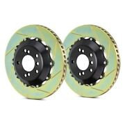 For Audi Rs4 07-08 Brembo 102.9006a Gt Series Slotted 2-piece Front Brake Rotors