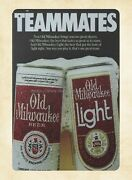 Wall Art Stores Plaque Teammates Old Milwaukee Beer Metal Tin Sign
