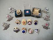 Teamsters Lot Of 24 Assorted Divisions Pinback Pins