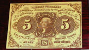 Fr.1230 1st Issue 5 Cent Jefferson Postage Currency With Abco
