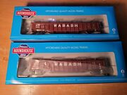 Ho Walthers Roundhouse Wabash 50and039 Covered Gondola 12914 12906 2 Pack