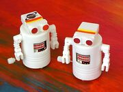 2 Robots. Sci Fi Channel Promotion. Wind Up Toys. New Condition. 30+ Years Old
