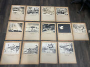 13x Original Ww2 Never Published Photographs From A War Bond Drive Mounted Large