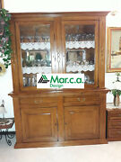 Glass Cabinet 2 Doors In Finished Bassano Super Qualityand039