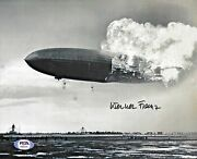 Werner Franz Greman Survivor 1937 Hindenburg Signed Auto 8x10 Photo Psa/dna Coa