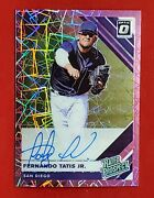 Tatis Jr 2019 Optic Rated Prospect Pink Velocity Prizm Rookie On Card Auto Clean