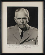George C. Marshall - Autographed Inscribed Photograph