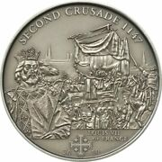 2st Crusade1189 Louis Vii Of France Silver Coin 5 Cook Islands 2009 1000 Pcs
