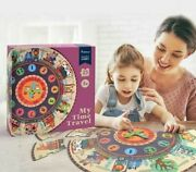 25pcs Baby Puzzle Digital Clock Paper Jigsaw Puzzles For Kids Educational Puzzle