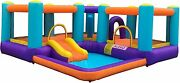 Extra Large Inflatable Playtime Bounce House Splash Pool And Slide - Three Variant