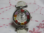 Murano Watch Beautiful Pearl Face Vintage Estate Find