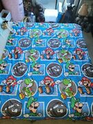 Authentic Official 2017 Reversible Nintendo Super Mario Brothers Twin Comforter