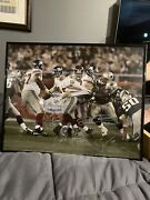 Eli Manning New York Giants Autographed 16x20 Super Bowl Photo In Frame