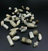 Lot Old Antique Himalayan Ancient Jewelry Agate Amulet Bead Pendant Circa 500 Bc