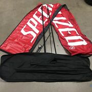 Specialized Bicycle Bike Advertising Bow Flag Swoop Pit Race Track Wind Banner