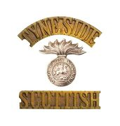 Tyneside Scottish Northumberland Fusiliers Shoulder Title Bi Metal