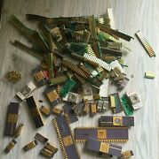 Vintage Gold Pinned Ic Chips/ Gold Scrap Recovery.-mixed