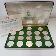 1972 Official Medals Of The Xx Olympic Games .999 Fine Silver Medals 19sc