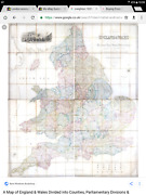 Huge Map England Wales In 4 Folding Maps Each Map Is 106 X 90 Cm Lewis 1846