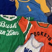 Vintage 50s 60s Cotton Rayon Jersey T Shirts Lot Distressed Stitched Athletic