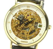 Skeleton Date 18k Yellow Gold Skeleton Dial Automatic Menand039s Watch_568733