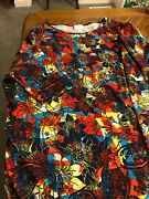Euc Very Colorful Lularoe Outfit Yellow,blue, Red, M Irma And Tc Leggings Floral