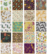 Ambesonne Autumn Microfiber Fabric By The Yard For Arts And Crafts