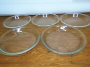 Lot Of 5 Vintage Pyrex Ovenware Clear Glass 9 Inch Pie Pan Plates 209