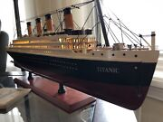 Ships Early Nov 24 Led Rms Titanic Wooden Model Ship Inch Warm Light Assembled