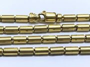 14k Yellow Gold Smooth Round Box Chain Link Necklace 25 Inches 32.50g