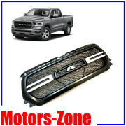 Painted Steel Met Grill For 2019 2020 Dodge Ram 1500 Grille W/ Smoke Led Lights