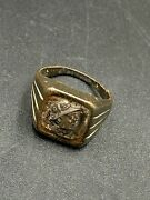 Authentic Old Jewelry Ancient Indo Greek Antiquity Bronze Ring Silver Coin Stamp